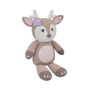 Living textiles knitted fawn toy